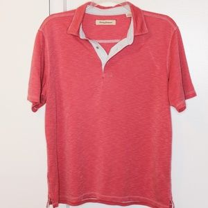 Tommy Bahama Watermelon Red Polo Shirt L
